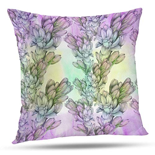 Exotica Collection (Batmerry Spring Pillows Decorative Throw Pillow Covers 18x18 Inch, Leaves and Branches are Composition Perfumery and Cosmetic Double Sided Square Pillow Cases Pillowcase Sofa Cushion)