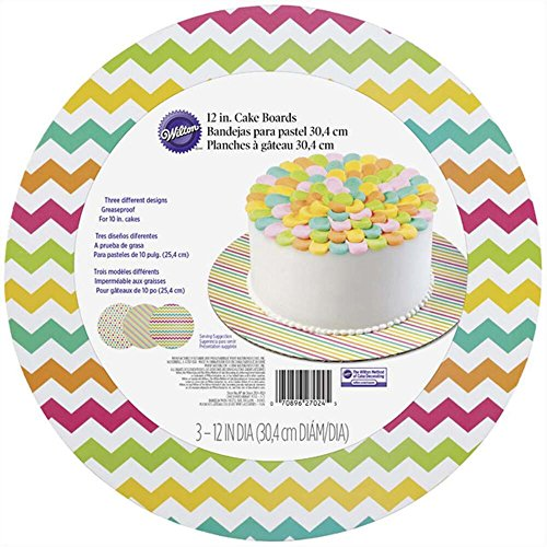 UPC 070896270245, Wilton 2104-7024 3 Count Brights Round Cake Board Set, Assorted