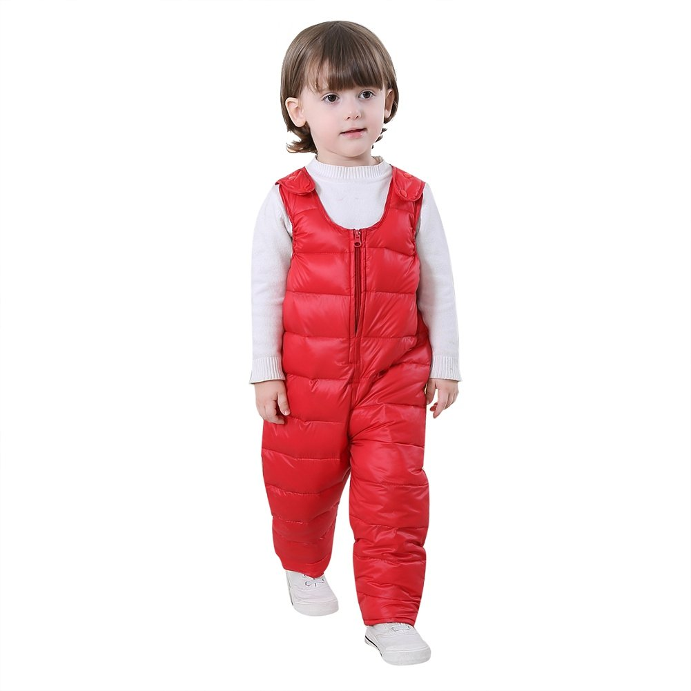 Shiningup Baby Winter Overall Pants Down Padded Suspender Trousers Warm Dungarees for 1-4 Years Little Boys and Girls by