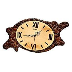 Hand-Crafted Fancy Home-Decorative Wooden Wall Clock for Drawing Room