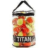 Bola de Tênis Titan Kids Laranja Estagio 2 - Pack com 24 Unidades