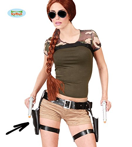 Tomb Raider Style Thigh Holster Set and Guns from Guirca