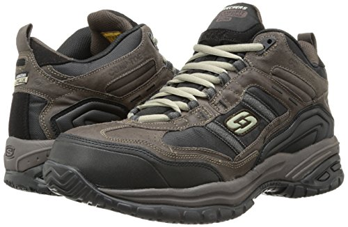 Skechers Men's Work Relaxed Fit Soft Stride Canopy Comp Toe Shoe, Brown/Black - 11.5 3E US by Skechers (Image #6)