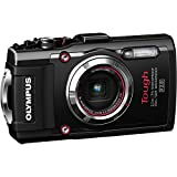 Olympus Stylus TOUGH TG-3 16MP Waterproof Digital Camera with 4X Optical Zoom, FHD 1080P Video, Built-in Wi-Fi, GPS and eCompass - Black (CERTIFIED REFURBISHED)