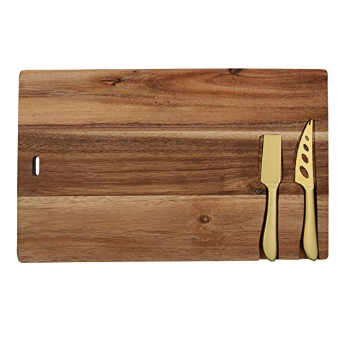 - Creative Tops Gourmet Cheese Acacia Board and Knife Set   Serving Board and Cheese Knives 14.5