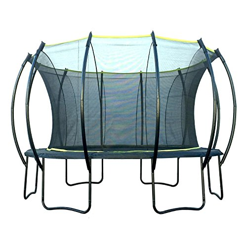 SkyBound Stratos 15 Foot Trampoline with Updated Safety Net & Top Ring...