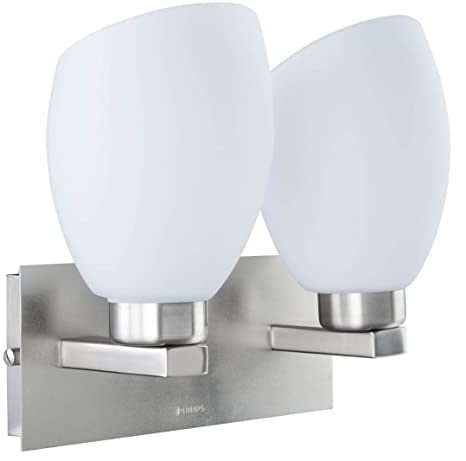 Philips 30979 Brushed Nickel Wall Light (White And Metal And Glass)
