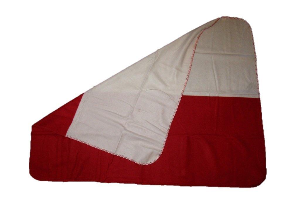 Poland Polish Polska Plain Flag 50x60 Polar Fleece Blanket Throw