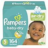 : Diapers Size 5 (164 Count) - Pampers Baby Dry Disposable Baby Diapers, One Month Supply