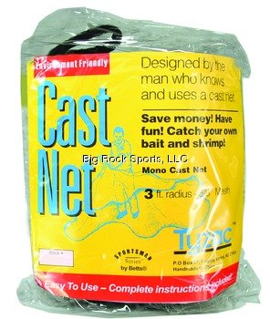 - Betts Tyzac Series Cast Net for Bait Fish (5-Feet x 3.5-Inch)