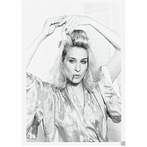 Sex and the City Sarah Jessica Parker as Carrie Bradshaw Doing Hair Black and White 8 x 10 Inch Photo ()