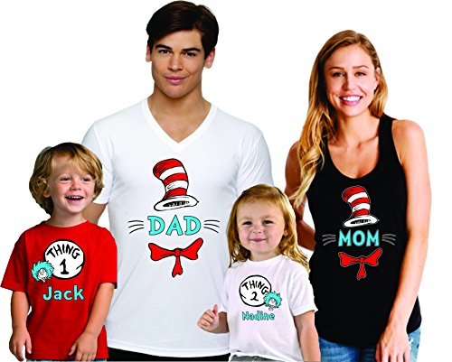 Mom Dad One Two Family Matching Shirts Custom Names]()