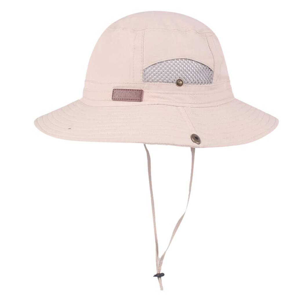 MNRIUOCII Hombres Sombrero para El Sol Protecci/óN UV Sombrero de ala Ancha Pescador Outdoor Verano para La Pesca de Senderismo C/áMping Sombrero de Sol Al Aire Libre