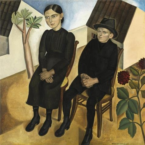 [Perfect Effect Canvas ,the Beautiful Art Decorative Canvas Prints Of Oil Painting 'Gustave Van De Woestyne - Gaston And His Sister,1923', 20x20 Inch / 51x51 Cm Is Best For Foyer Decor And Home Decor And] (Im The Pope Costume)