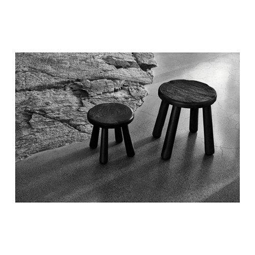 Ikea side table stool black garden for Ikea outdoor side table