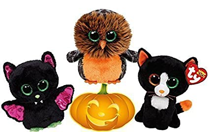f1a0b28bb77 Image Unavailable. Image not available for. Color  Ty Beanie Boos Halloween  Igor Bat ...