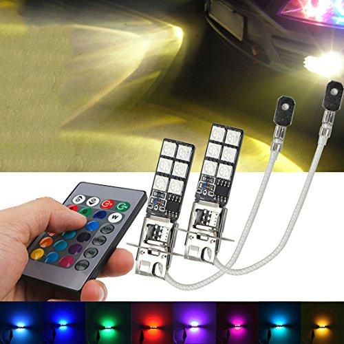 7 color fog lights with remote - 2