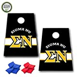 VictoryStore Cornhole Games - Sigma Nu Cornhole Bag Toss Game - Horizontal Stripe - 8 Bags Included
