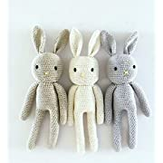 Knitted Stuffed Bunny Rabbit Plush Toy (Handmade)