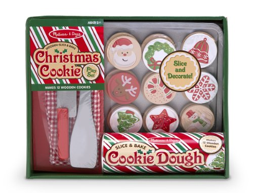 Amazon.com: Melissa & Doug Slice and Bake Wooden Christmas Cookie ...