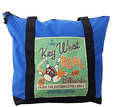 Large Weekender Carry-on Ships Wheel Turquoise Ambesonne Anchor Gym Bag