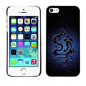 NUMO Premium slim Aliminium Casa Carcasa Funda Case Bandera Cover Armor Shell / Tribal Dragon / Apple Iphone 5 / 5S