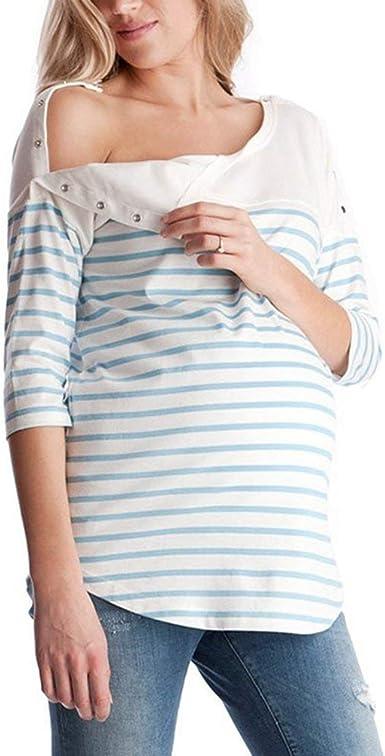 Camisetas De Enfermería Tops Lactancia Embarazo Ropa para ...
