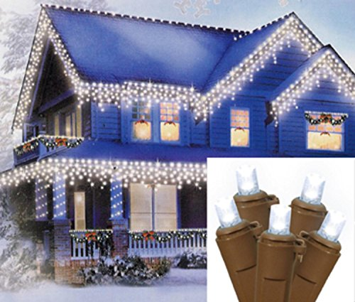 Led Icicle Lights Brown Wire