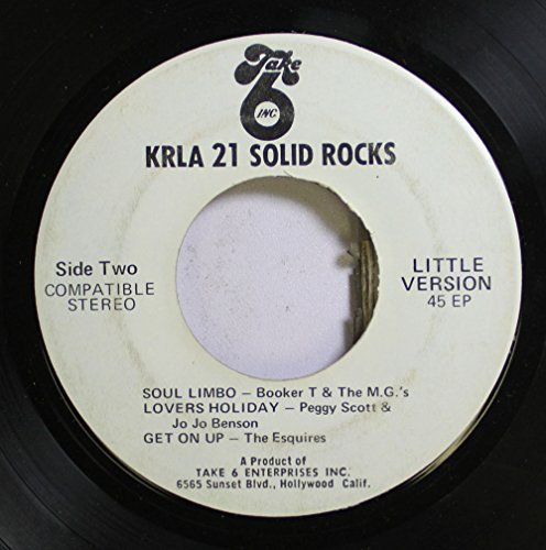 Booker T & the M.G.'s/Peggy Scott & Jo Jo Benson/The Esquires/The Bubble Puppy/Chad & Jeremy/Johnny Nash 45 RPM Soul Limbo/Lovers Holiday/Get On Up / Hot Smoke & Sasafrass/A Summer Song/Hold Me Tight