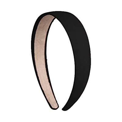 1 Inch Wide Suede Like Headband Solid Hair band for Women and Girls - Black
