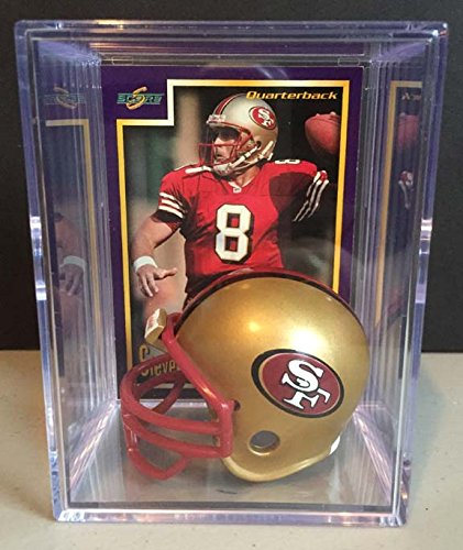 San Francisco 49ers Throwback NFL Helmet Shadowbox w/ Steve Young card