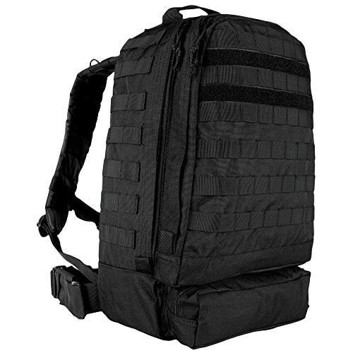 Fox Tactical 3-Day Assault Backpack - 20 x 15 x 9 Inches, Tactical MOLLE Compatible (Black)