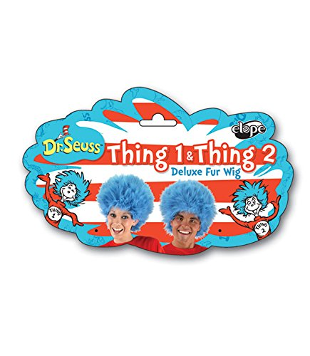 Elope Dr Seuss Thing 1 Thing 2 Blue Fuzzy Wig For Women & Men - http://coolthings.us