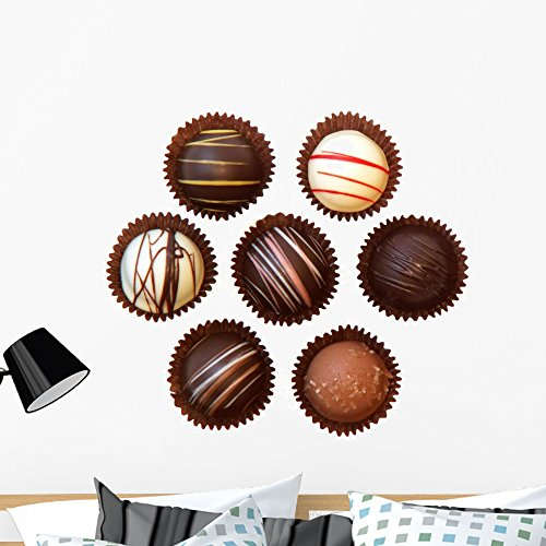 (Wallmonkeys Assorted Chocolates Wall Decal Sticker Set Individual Peel and Stick Graphics on a (36 in W x 27 in H) Sticker Sheet WM337172)