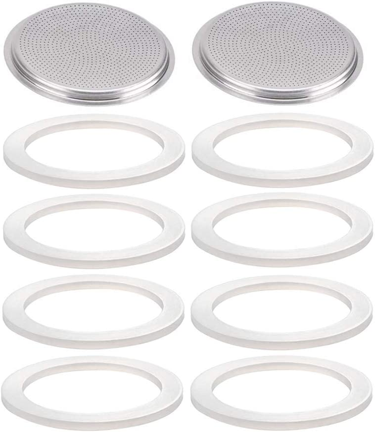 Hpamba Coffee Head Seal Seal Ring for Espresso Coffee Sealing Ring Accessory Part Coffee Silicone Rings Gaskets Coffee Coffee Replacement Gasket Seal Rings and Filter Brew Head Gasket Ring 10 Pieces