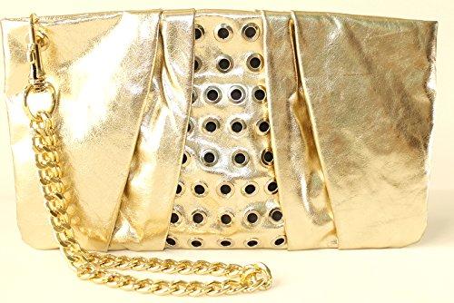 Anna Rock Milano - Cartera de mano para mujer dorado: Amazon.es: Zapatos y complementos