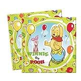 Procos 5951 Disney Winnie The Pooh Napkins (set Of 20)