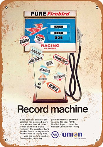 Wall-Color 9 x 12 METAL SIGN - 1968 Union 76 Racing Gasoline - Vintage Look Reproduction