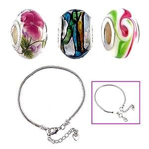 3 Piece Large Hole Bead Set + Starter Bracelet by A-Ha