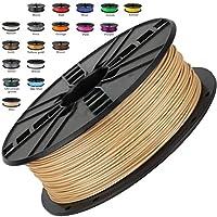Melca 1.75 3D Printer Filament PLA 1kg +/- 0.03mm, Brown/Wood Colored (#955F20) from Melca