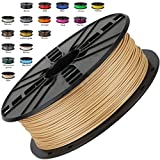 Melca 1.75 3D Printer Filament PLA 1kg +/- 0.03mm, Brown / Wood Colored (#955F20)