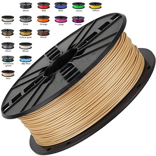 Melca 1.75 3D Printer Filament PLA 1kg +/- 0.03mm, Brown/Wood Colored (#955F20)
