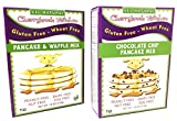 #4: Cherrybrook Kitchen All Natural Gluten Free Wheat Free Pancake and Waffle Mix and Chocolate Chip Pancake Mix 18 Ounce (Pack of 2)