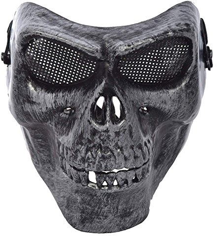Party Face Mask Skull Skeleton Mask Half Face Mask for Halloween Costume Party Supply -