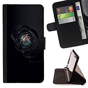 BullDog Case - FOR/Samsung Galaxy S4 Mini i9190 / - / magic ball see the world /- Monedero de cuero de la PU Llevar cubierta de la caja con el ID Credit Card Slots Flip funda de cuer