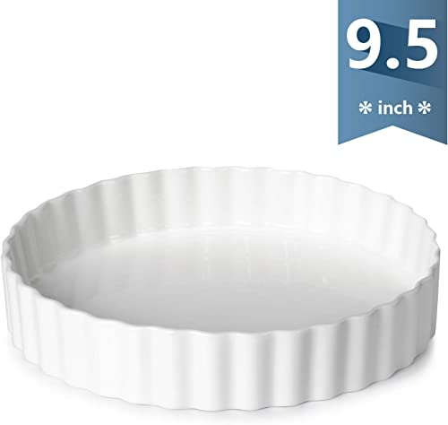 Sweese-Porcelain-Tart-Pan-9.5-Inches-Quiche-Dish-Baking-Pan