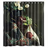 PILZOO Polyester Bathroom Curtains Of Famous Classic Art Painting Flowers Blossoms For Mother Wife Boys Relatives Boys. Easy Clean Width X Height / 72 X 72 Inches / W H 180 By 180 Cm(fab