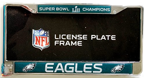 Stockdale Philadelphia Eagles Champions SD Laser Frame Chrome Metal License Plate Cover