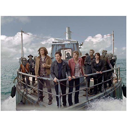 Jake Able 8 inch x 10 inch Photo Supernatural The Lovely Bones Percy Jackson: Sea of Monsters w/Cast on Bow of Ship kn