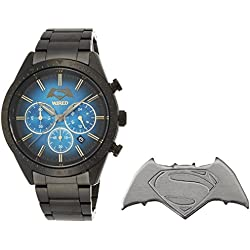 WIRED Men's watch WIRED × BATMAN × SUPERMAN limited edition 1,700 / 1,300 (Worldwide / Japan) Solar hard Rex 10 water pressure AGAT708